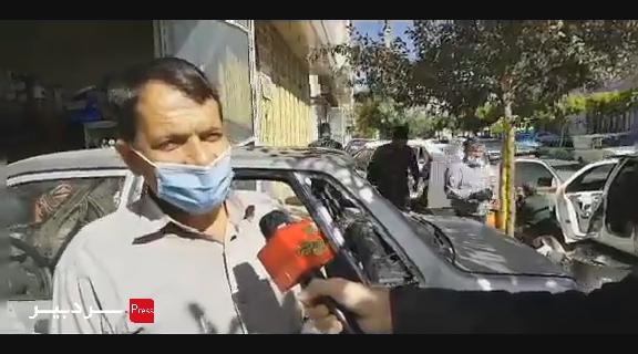 پیگیری مطالبات مردمی در جهت سنگفرش پیاده روهای خیابان صیاد شیرازی شهرستان سنقر