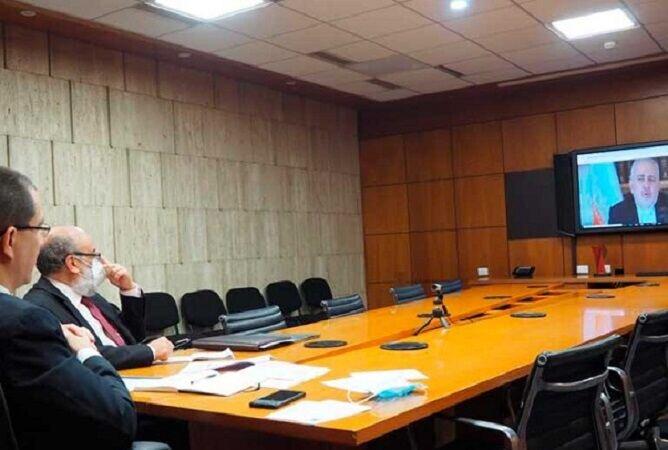 وزیر الخارجیه الإیرانی یبحث مع نظیره الفنزویلی خطط التعاون المشترک بین البلدین