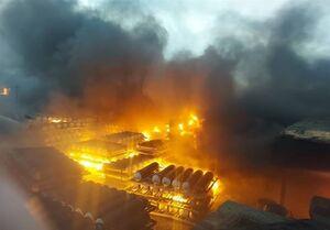 انفجار و آتشسوزی گسترده در شرکت «تاژ»