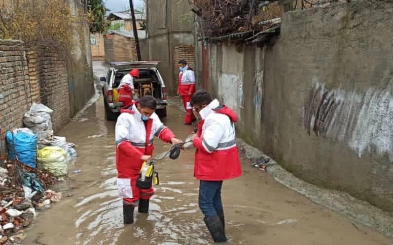 امدادرسانی هلال احمر به ۳۳۸ حادثه دیده در ۷۲ ساعت گذشته