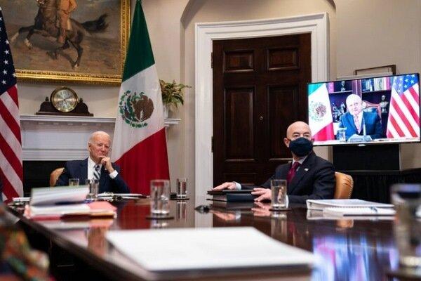 بایدن و همتای مکزیکی دیداری مجازی داشتند