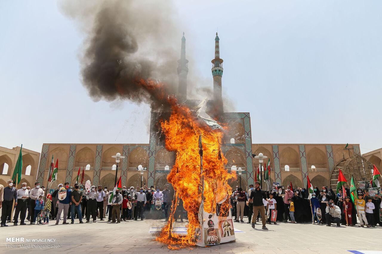 تجمع خودجوش مردم یزد در روز جهانی قدس