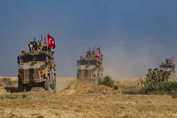حمله ارتش ترکیه به «تل رفعت» در شمال سوریه