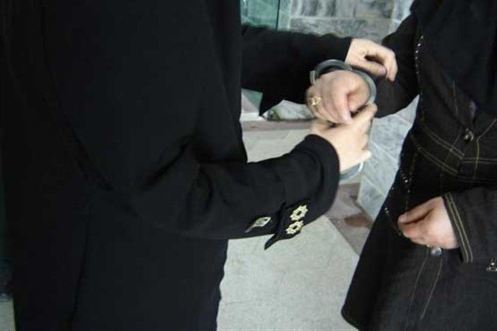 دستگیری زن جیببر اتوبوس های بی آر تی