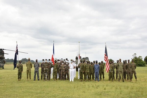 رزمایش مشترک آمریکا، ژاپن، استرالیا و فرانسه آغاز  شد