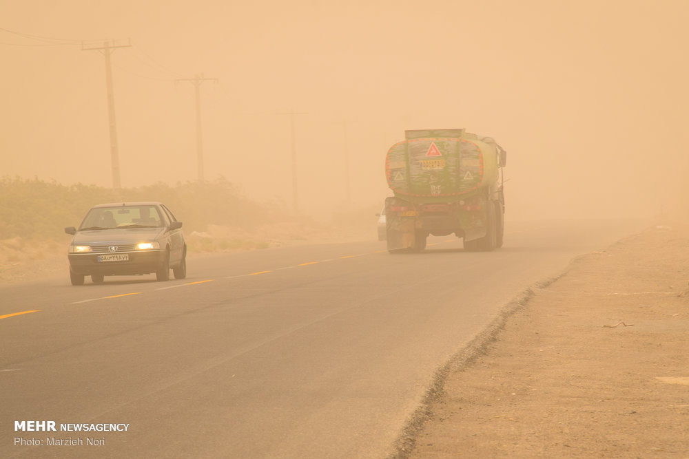 سرعت طوفان شن در زابل به ۱۰۸ کیلومتر بر ساعت رسید