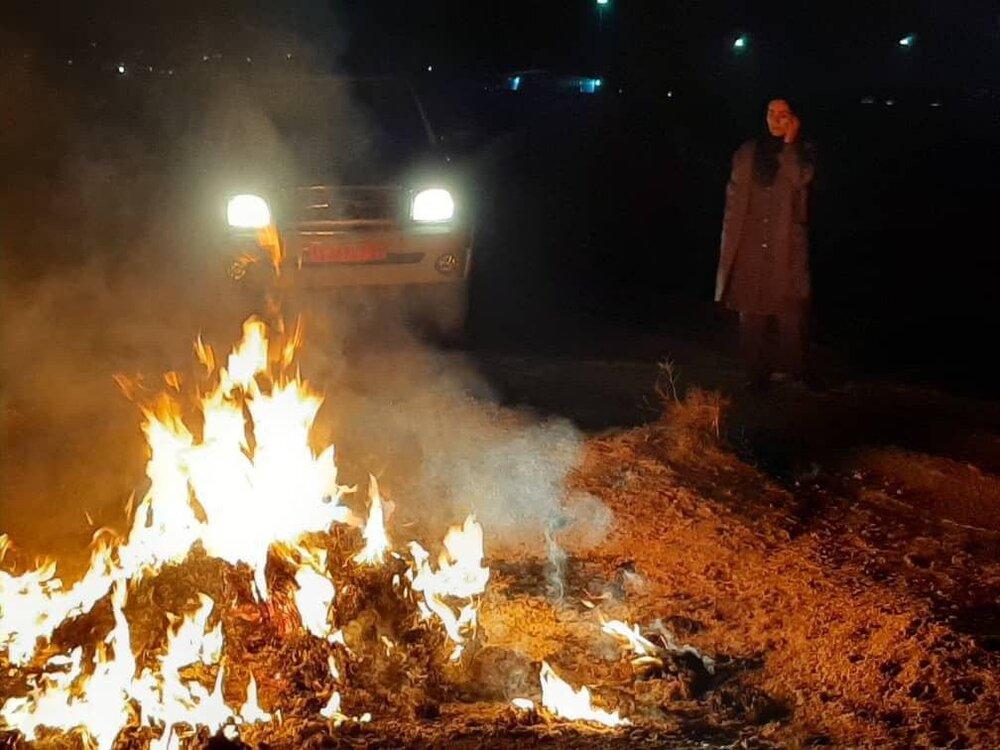 مهار ۵ مورد پسماندسوزی سوزی در گشت شبانه محیط زیست بهارستان