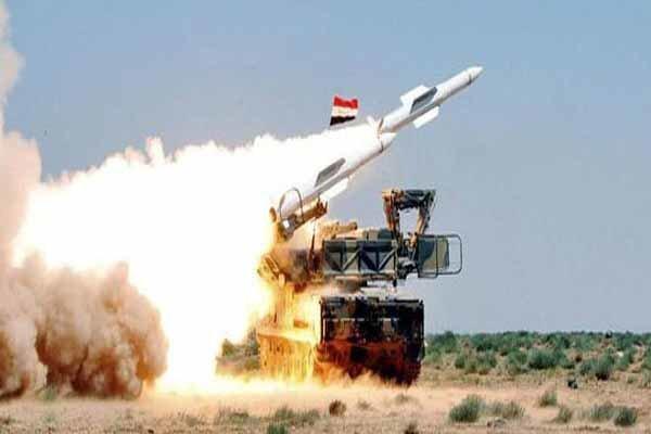 پدافند هوایی سوریه یک هواپیمای جاسوسی را در حومه حلب سرنگون کرد