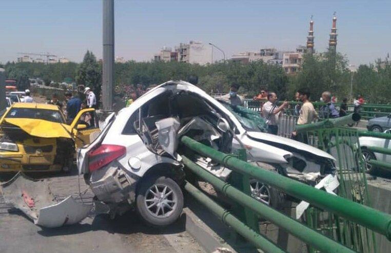 کاهش ۳۰ درصدی تلفات جانی در تصادفات شمال تهران