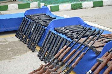 کشف ۸۱ قبضه اسلحه در کرمانشاه